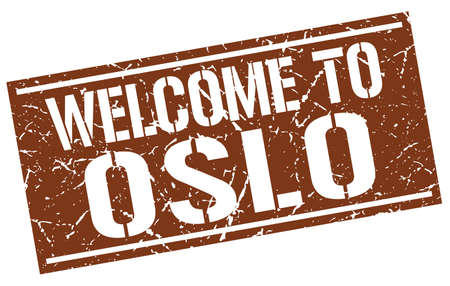 oslo: welcome to Oslo stamp