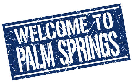 springs: welcome to Palm Springs stamp