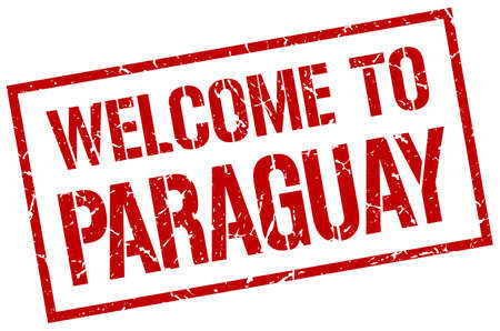 paraguay: welcome to Paraguay stamp