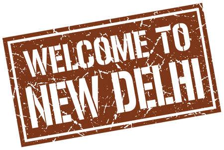 new delhi: welcome to New Delhi stamp