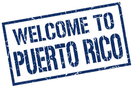 puerto: welcome to Puerto Rico stamp