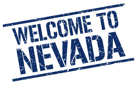 nevada: welcome to Nevada stamp