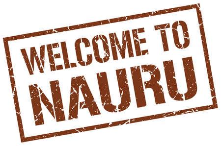 nauru: welcome to Nauru stamp