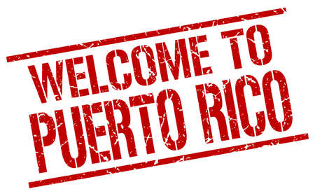 puerto rico: welcome to Puerto Rico stamp