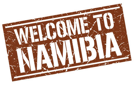 namibia: welcome to Namibia stamp Illustration