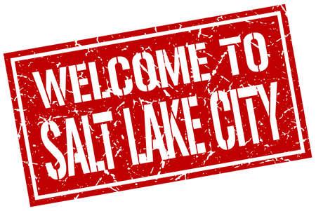 salt lake city: welcome to Salt Lake City stamp
