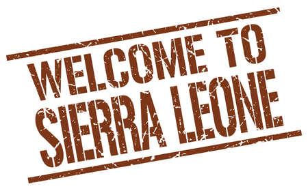 sierra leone: welcome to Sierra Leone stamp