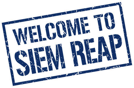 siem reap: welcome to Siem Reap stamp