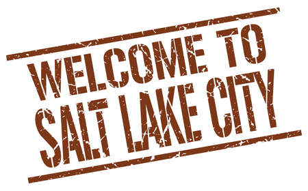 salt lake city: welcome to Salt Lake City stamp