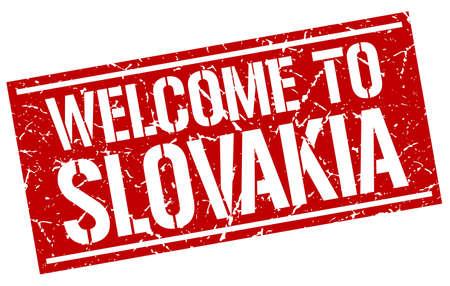 slovakia: welcome to Slovakia stamp