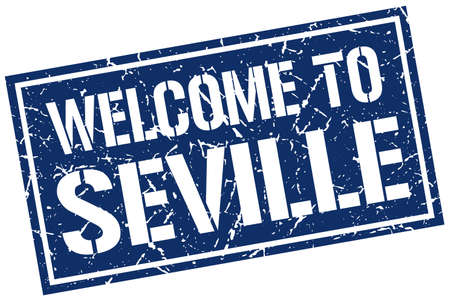 seville: welcome to Seville stamp