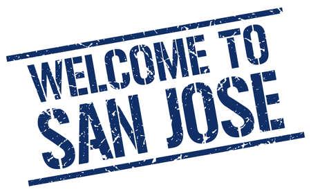 san jose: welcome to San Jose stamp