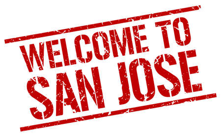 jose: welcome to San Jose stamp