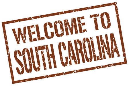 carolina: welcome to South Carolina stamp