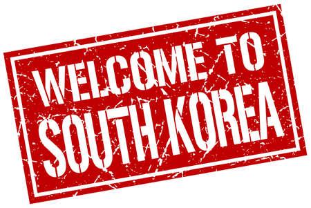 south korea: welcome to South Korea stamp