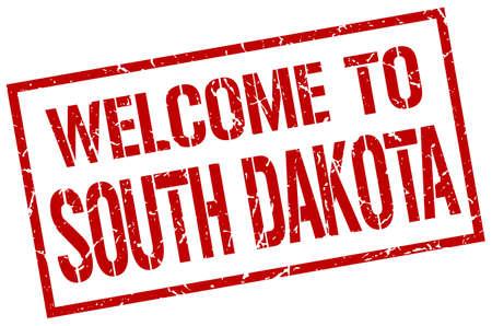 south dakota: welcome to South Dakota stamp