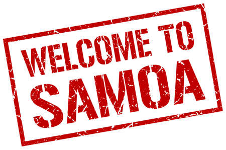 samoa: welcome to Samoa stamp