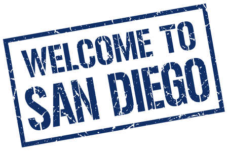 san diego: welcome to San Diego stamp
