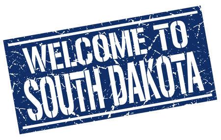 dakota: welcome to South Dakota stamp