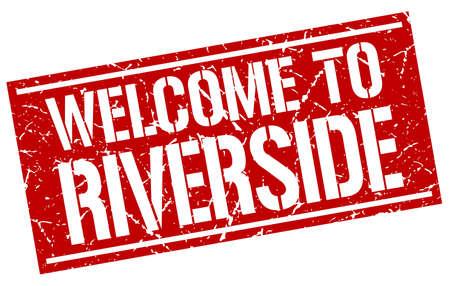 riverside: welcome to Riverside stamp Illustration