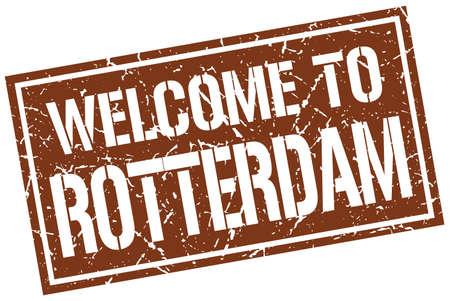 rotterdam: welcome to Rotterdam stamp Illustration