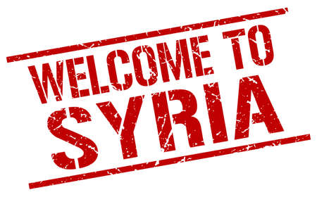 Syria: welcome to Syria stamp