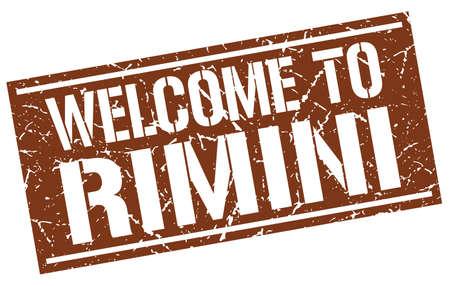 rimini: welcome to Rimini stamp Illustration