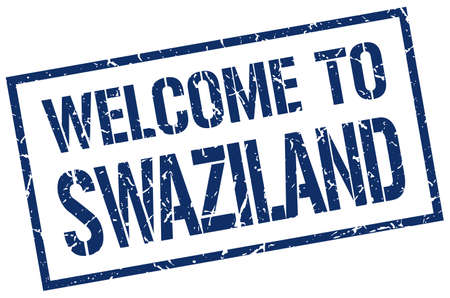 swaziland: welcome to Swaziland stamp Illustration