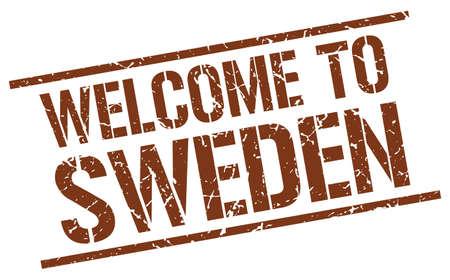 sweden: welcome to Sweden stamp