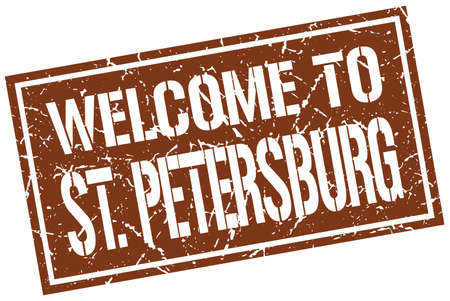 st petersburg: welcome to St. Petersburg stamp