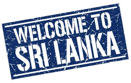 sri lanka: welcome to Sri Lanka stamp