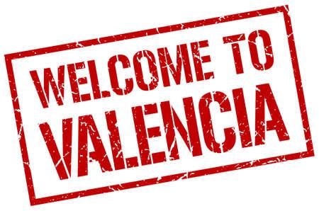 valencia: welcome to Valencia stamp