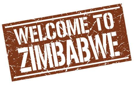 zimbabwe: welcome to Zimbabwe stamp