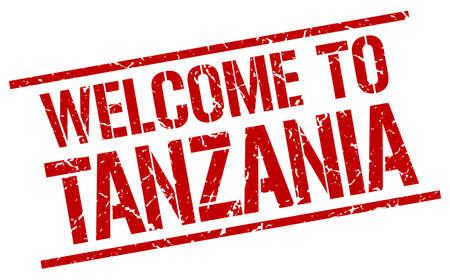 tanzania: welcome to Tanzania stamp