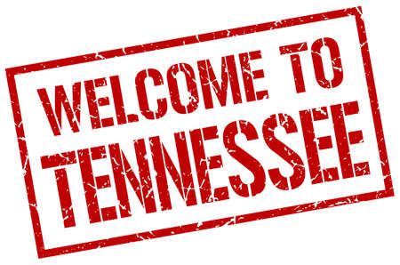 tennessee: welcome to Tennessee stamp Illustration