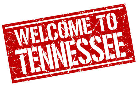 tennesse: welcome to Tennessee stamp Vectores