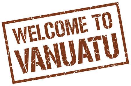vanuatu: welcome to Vanuatu stamp