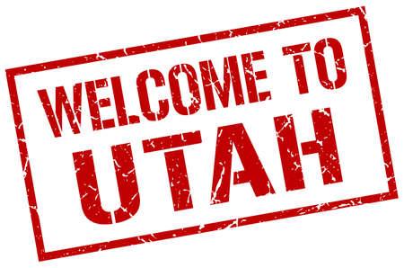 utah: welcome to Utah stamp Illustration