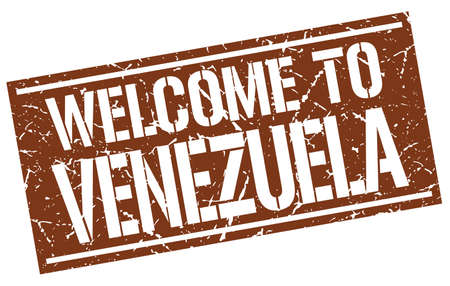 venezuela: welcome to Venezuela stamp