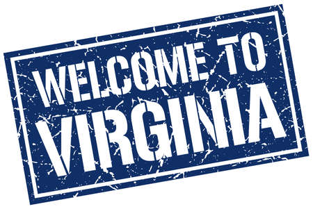 virginia: welcome to Virginia stamp