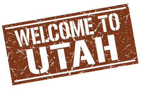 welcome to Utah stamp Illustration