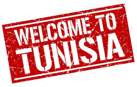 tunisia: welcome to Tunisia stamp