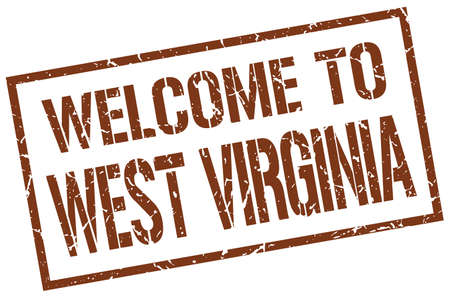 virginia: welcome to West Virginia stamp Illustration