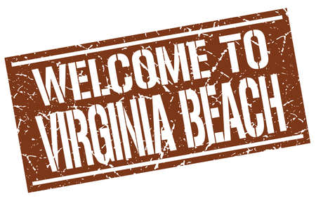 virginia: welcome to Virginia Beach stamp