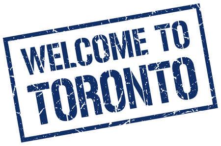 toronto: welcome to Toronto stamp