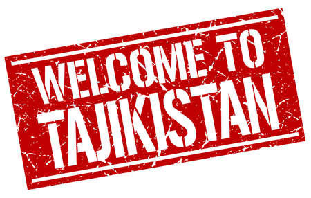 tajikistan: welcome to Tajikistan stamp