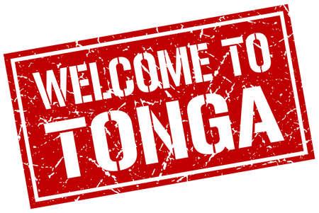 tonga: welcome to Tonga stamp