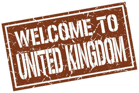 kingdom: welcome to United Kingdom stamp