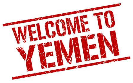 yemen: welcome to Yemen stamp