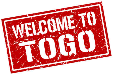 togo: welcome to Togo stamp